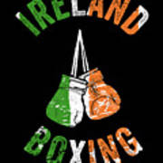 Ireland Boxing Color Light Boxers Irish Cool Gift Funny Flag Poster