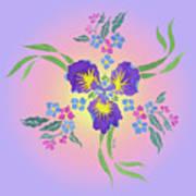 Iris Pinwheel Poster