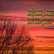 Irish Blessing - May Every Sunrise... Poster