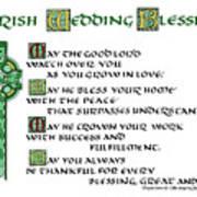 Irish Celtic Wedding Blessing Poster