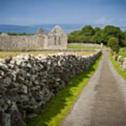 Irish Church Ruins Poster