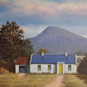 Irish Farmhouse Near Croagh Patrick Poster