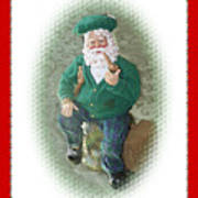 Irish Santa Card Poster