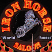 Iron Horse Saloon In Neon Poster