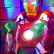 Ironman Abstract Digital Paint 2 Poster