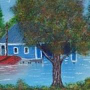 Island Boathouse Poster