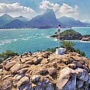 Island Lighthouse Poster