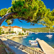 Island Of Vis Seafront Walkway View Poster