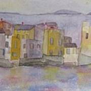 island village in Corsica Poster