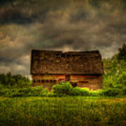 Isolated Barn Poster