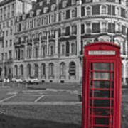 Isolated Phone Box Poster