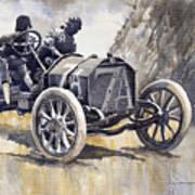 Isotta Fraschini 50hp 1908 Targa Florio  Poster