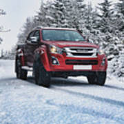 Isuzu In The Snow Poster
