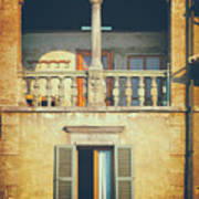Italian Arched Balcony Poster