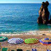 Italian Beach Scene Poster