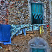Italian Clothes Dryer Poster
