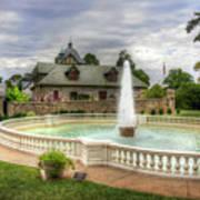Italian Fountain Maymont  Poster