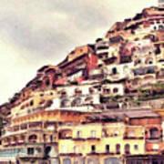 Italian Hillside Village Poster
