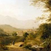 Italian Landscape Poster by Joseph William Allen