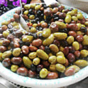 Italian Market Olives Poster