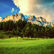 Italian Mountain Meadow Poster