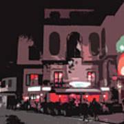 Italian Restaurant At Night Poster