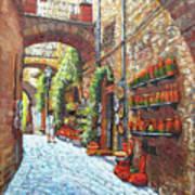 Italian Street Market Poster