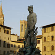 Italy, Florence, Neptune Fountain Poster by Sisse Brimberg & Cotton Coulson