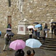Italy, Florence, Piazza Della Signora Poster