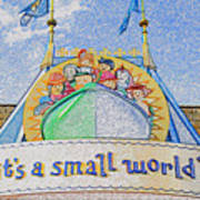 It's A Small World Entrance Original Work Poster