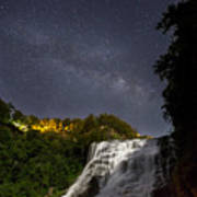 Ithaca Falls By Moonlight Poster