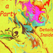 It's A Party Abstract Poster