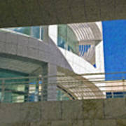 J. Paul Getty Museum Abstract View Poster