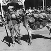 Jack Hendrickson With Pet Burro Number 3 Helldorado Days Parade Tombstone Arizona 1980 Poster