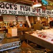 Jacks Fish Spot And Crab Pot-seattle Pike Place Market Poster