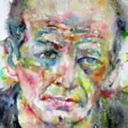 Jackson Pollock - Watercolor Portrait.3 Poster
