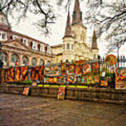 Jackson Square Winter - Artistic Poster