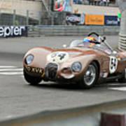 Jaguar C-type At Monaco Poster