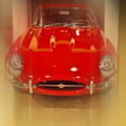 Jaguar E-type 1960s Poster