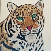 Jaguar Painting Poster