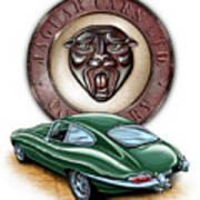 Jaguar Xke British Racing Green Poster by David Kyte