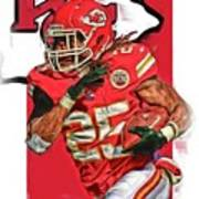 Jamaal Charles Kansas City Chiefs Oil Art Poster