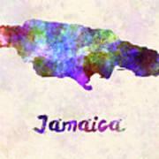 Jamaica In Watercolor Poster