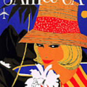 Jamaica, Woman With Orange Hat Poster