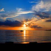 Jamaican Sunset Rays  By Steve Ellenburg Poster