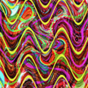 Janca Abstract Wave Panel #5at Poster