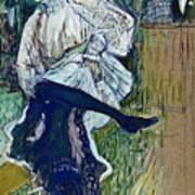 Jane Avril Dancing Circa 1892 Poster