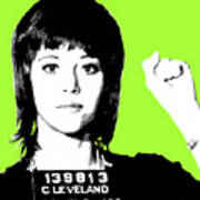 Jane Fonda Mug Shot - Lime Poster