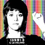 Jane Fonda Mug Shot - Rainbow Poster