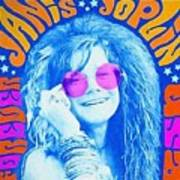 Janis Stamp Painting Poster